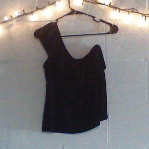 black old navy one strap blouse